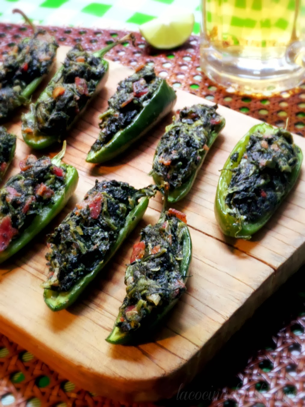 Spinach Stuffed Jalapeño Poppers - lacocinadeleslie.com