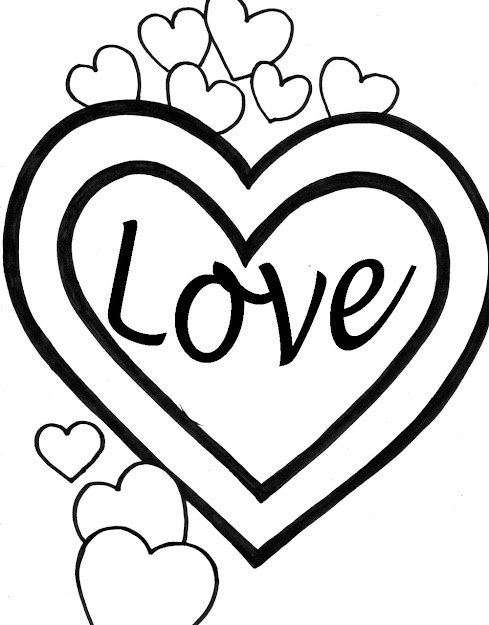 Dibujos De Corazones De Amor Para Imprimir Pintar Colorear  Love Dad  Heart Coloring Pages