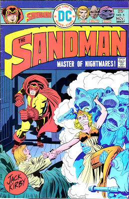 The Sandman v1 #5 dc bronze age comic book cover art by Jack Kirby