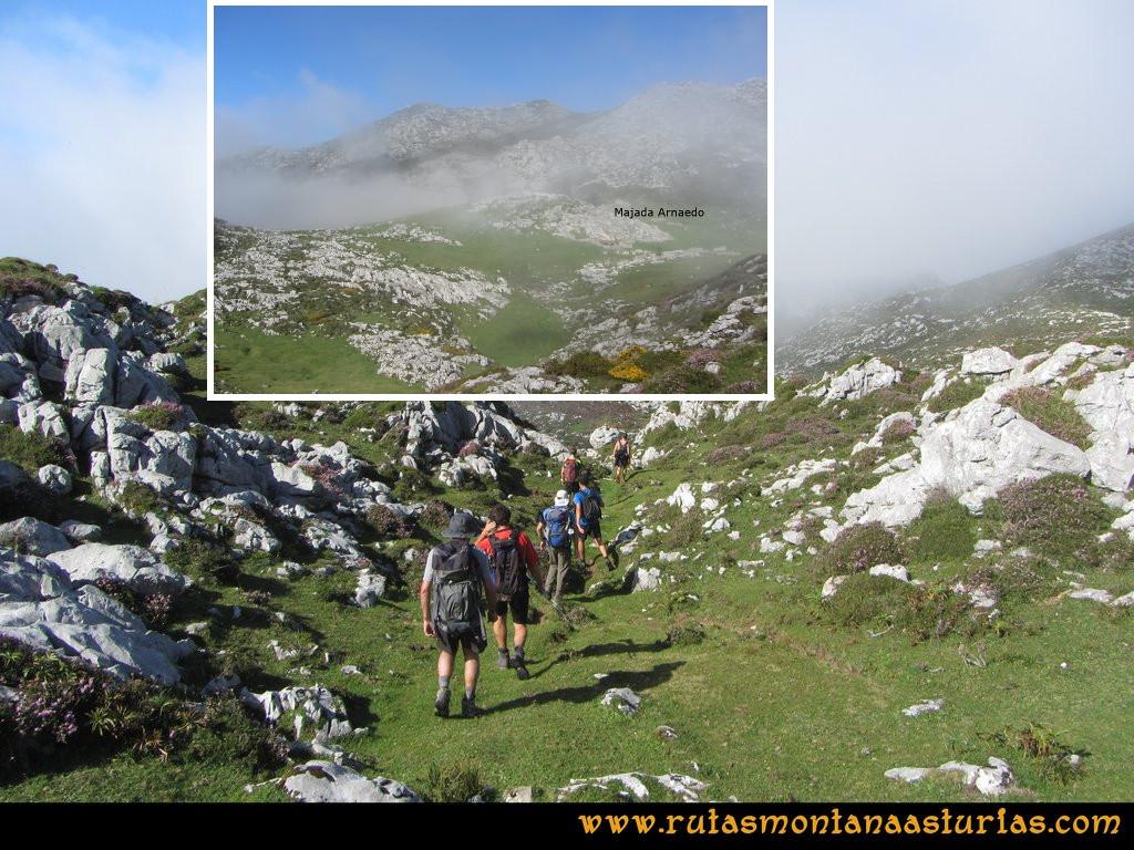 Ruta Ercina, Jultayu, Cuvicente: Camino a la majada de Arnaedo