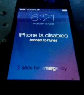 iphone is disabled conenct to itunes