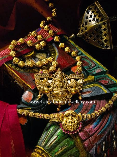 Antique Gold Balls Temple Jewellery