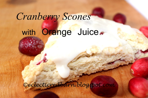 Eclectic Red Barn: Fresh Cranberry Scones with Orange Juice