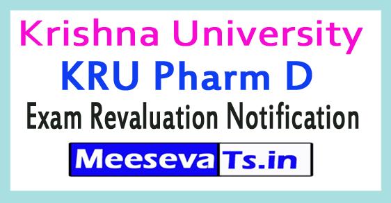 Krishna University KRU Pharm D Exam Revaluation Notification 2017