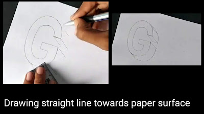 How to draw G, step by step tutorial of 'G', easy Drawing tutorial, begginers drawing of G, easy drawing guides, how to draw'G', step by step guide