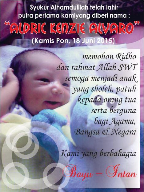 Contoh Kartu Syukuran Nama Bayi Hanya Sekedar Berbagi