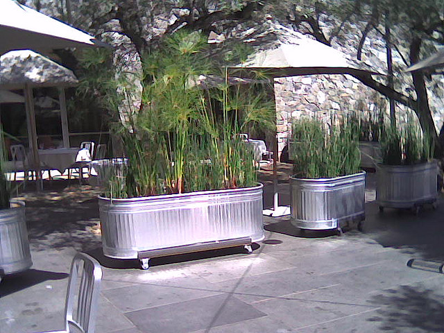 Used As Planters On Wheels To Delineate Es At An Outdoor Patio Image From Here