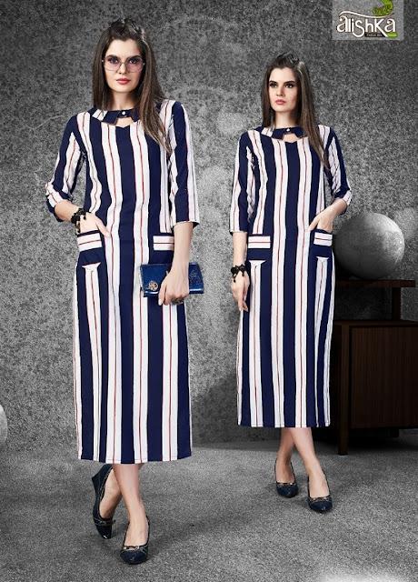 Alishka fashion Samaira Rayon Party wear kurtis wholesaler