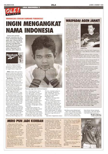 BAMBANG PAMUNGKAS INGIN MENGANGKAT NAMA INDONESIA
