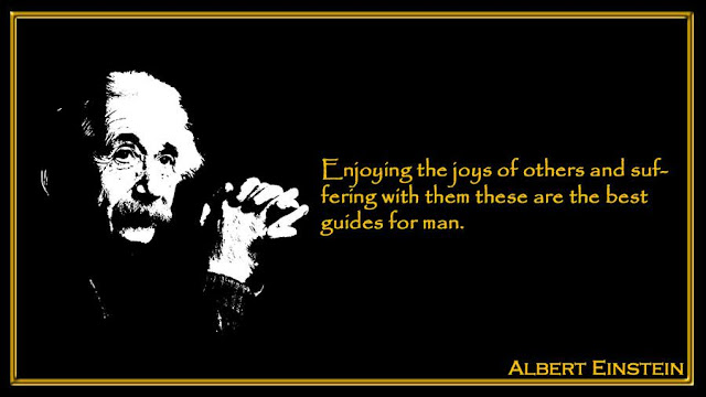 Enjoying the joys of others and suffering with them these are the best guides for man Albert Einstein quotes