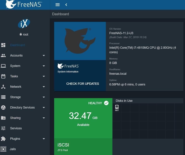 古之技術必有師。: S小魚仔S FreeNAS 11 2-U3 New Web Ui 初體驗(一)