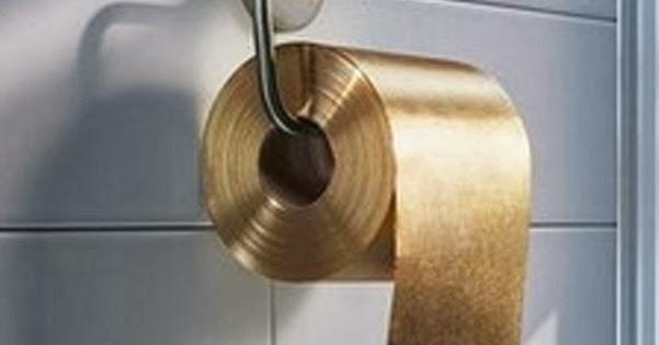 Luar Biasa Emas Dijadikan Hanya Untuk Tisu Toilet Bro