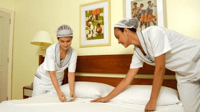 Hotel de grande porte contrata 20 Camareiras