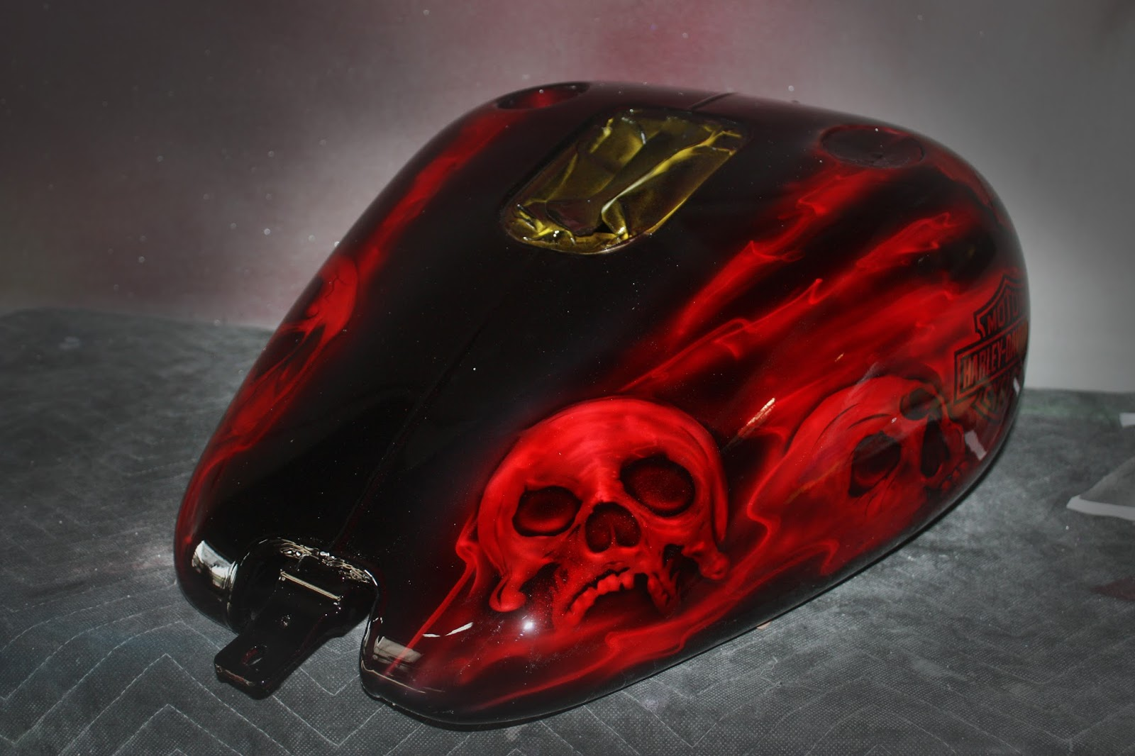 Online Motorcycle Paint Shop Candy Apple Red Metallic