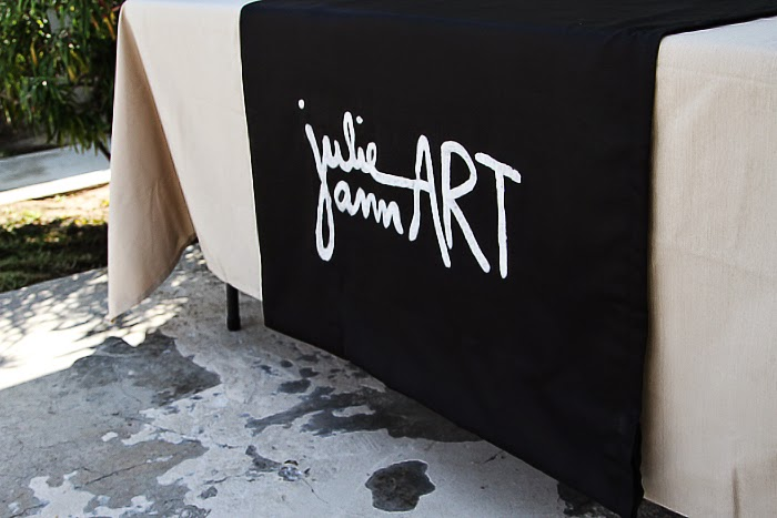 Diy Craft Show Fabric Sign No Sew Julie Ann Art Blog