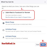 how to remove fake Facebook account