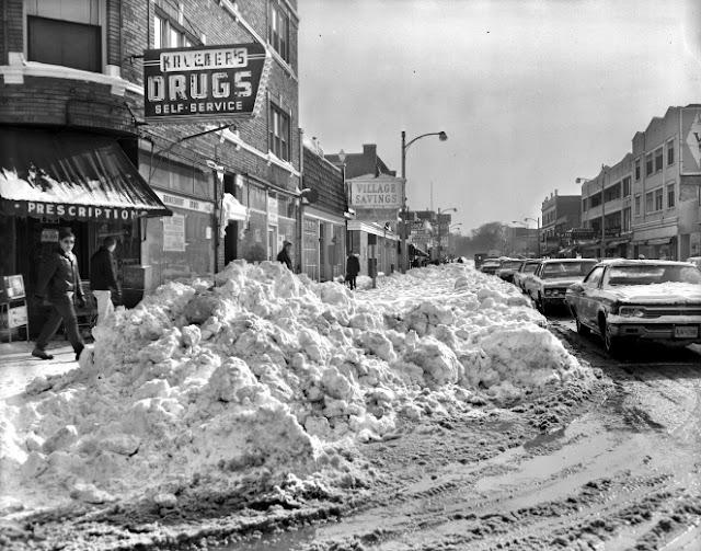 Fotografías de la tormenta de nieve de Chicago en 1967
