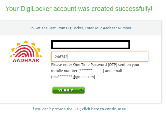 Digilocker OTP