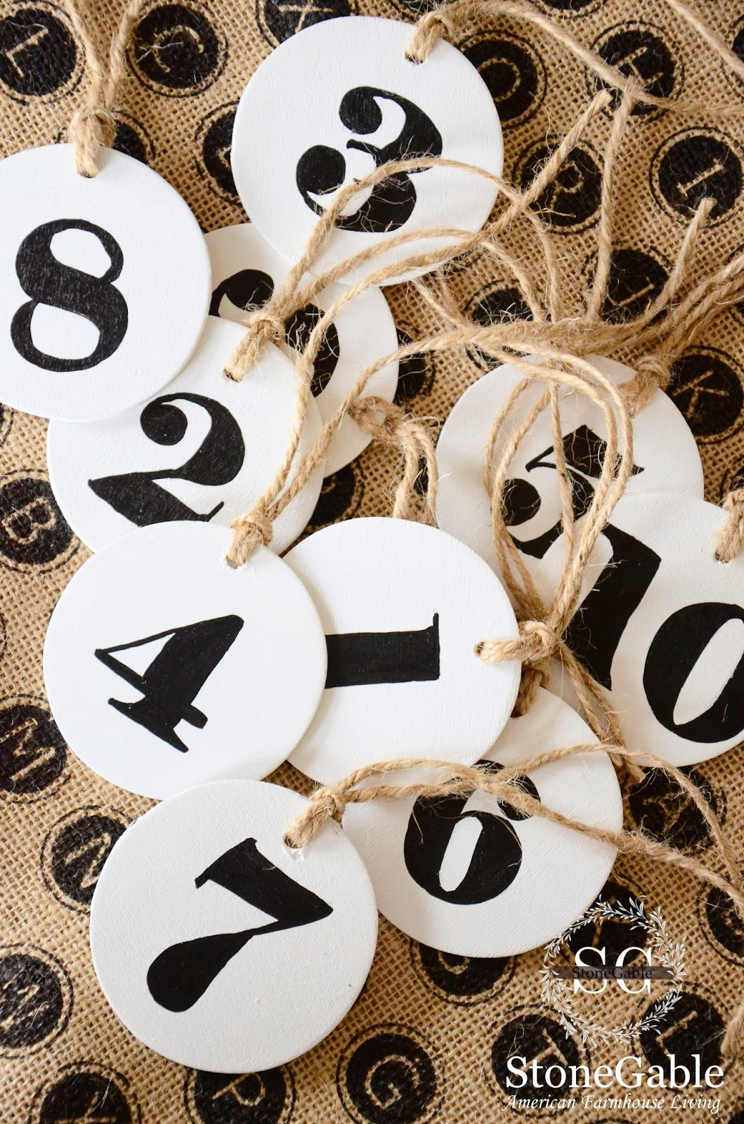 LARGE NUMBER TAGS DIY - StoneGable