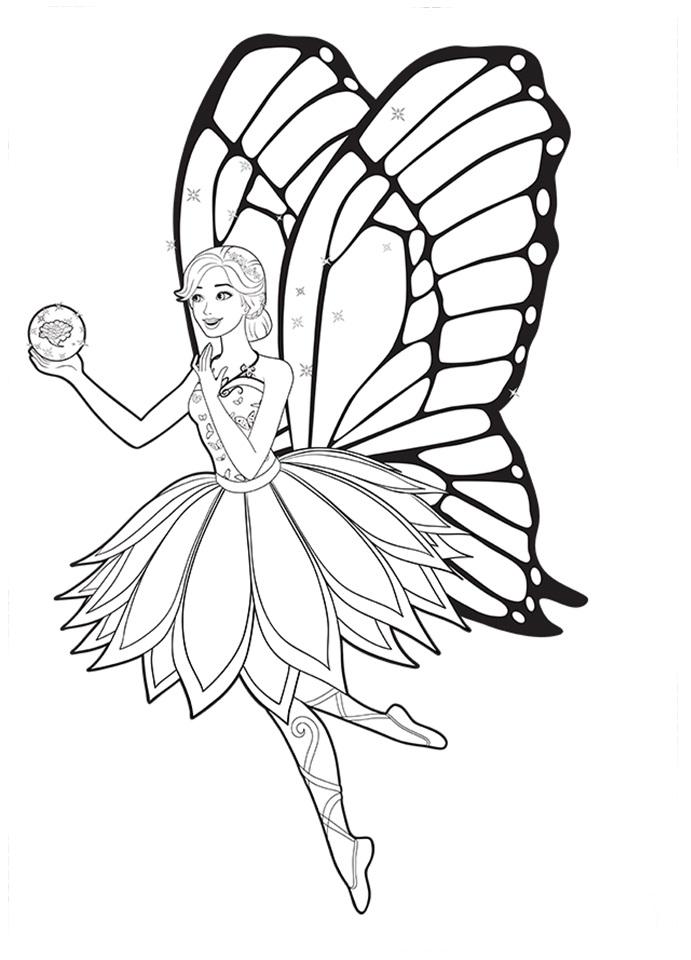 Desenhos De Barbie Butterfly Para Pintar Colorir Imprimir
