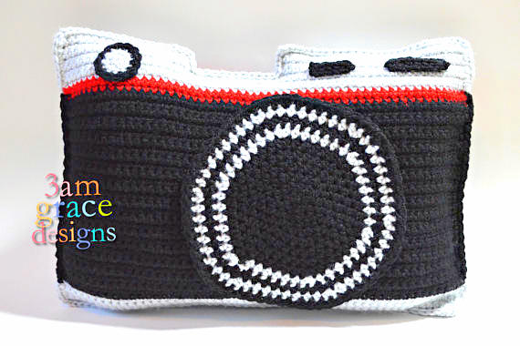 Camera Kawaii Pillow Cuddler Crochet Pattern