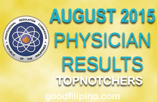 August 2015 Top 10 Physician Board Exam Passers (August 2015)
