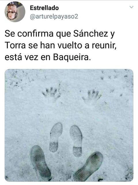 Sánchez y Torra se han vuelto a reunir, esta vez en Baqueira Beret.