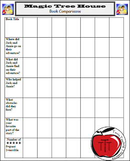 https://www.teacherspayteachers.com/Product/Magic-Tree-House-Book-Comparison-Worksheet-and-Book-Check-List-98119