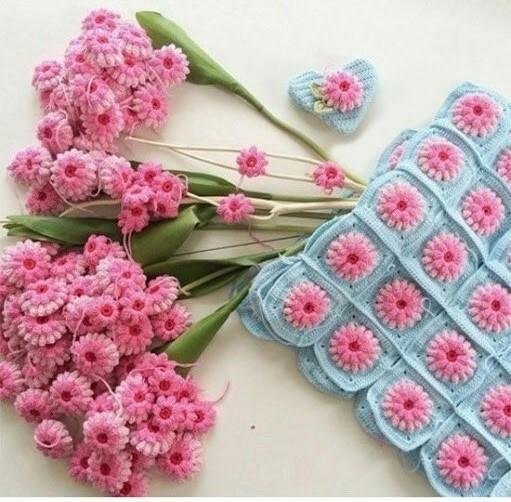 Ergahandmade Crochet Flower Blanket Diagram