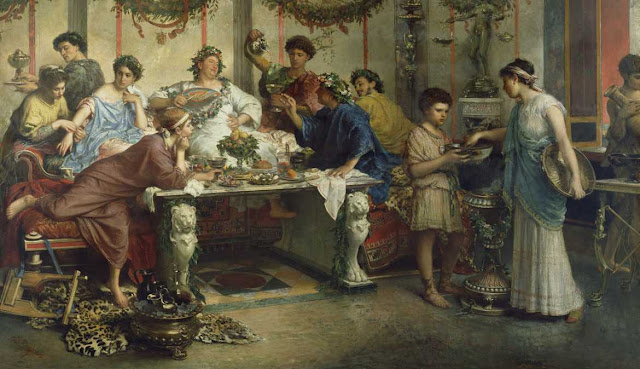 Cena en la antigua Roma