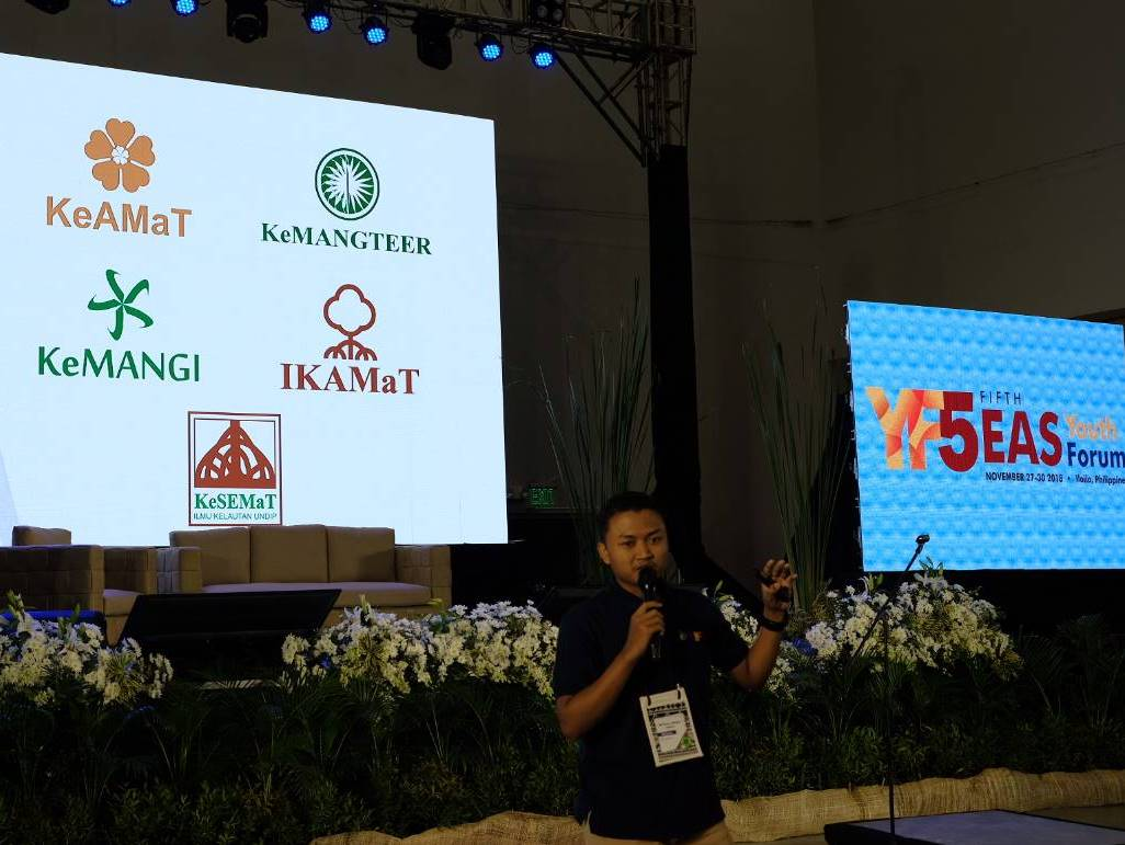 IKAMaT Pembicara The Fifth East Asian Seas Youth Forum 2018 di Filipina