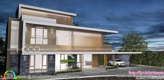 372 square meter 4 bedroom house flat roof style