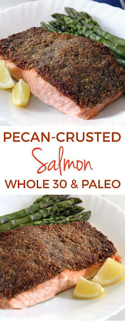 Easy Paleo Pecan-crusted Salmon