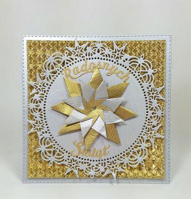 kartka złoto srebrna wyroznienie