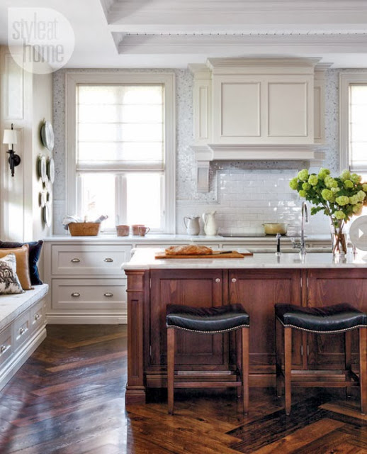 Kitchen Cabinets Island Shelves Cabinetry White Walnut: Two Tone Kitchen Cabinets