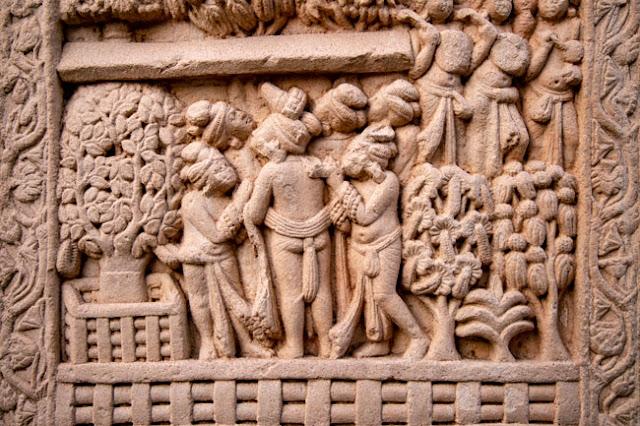 sanchi buddhist stupa madhya pradesh mural carving