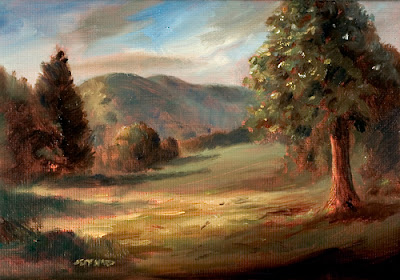Meadow Landscape Oil Painting by Jeff Ward