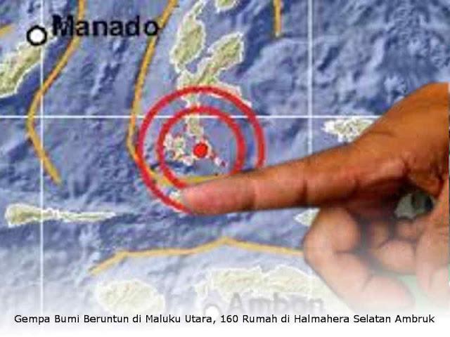 Gempa Bumi Beruntun di Maluku Utara, 160 Rumah di Halmahera Selatan Ambruk