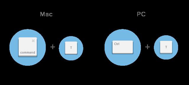 shortcut keyboard google chrome