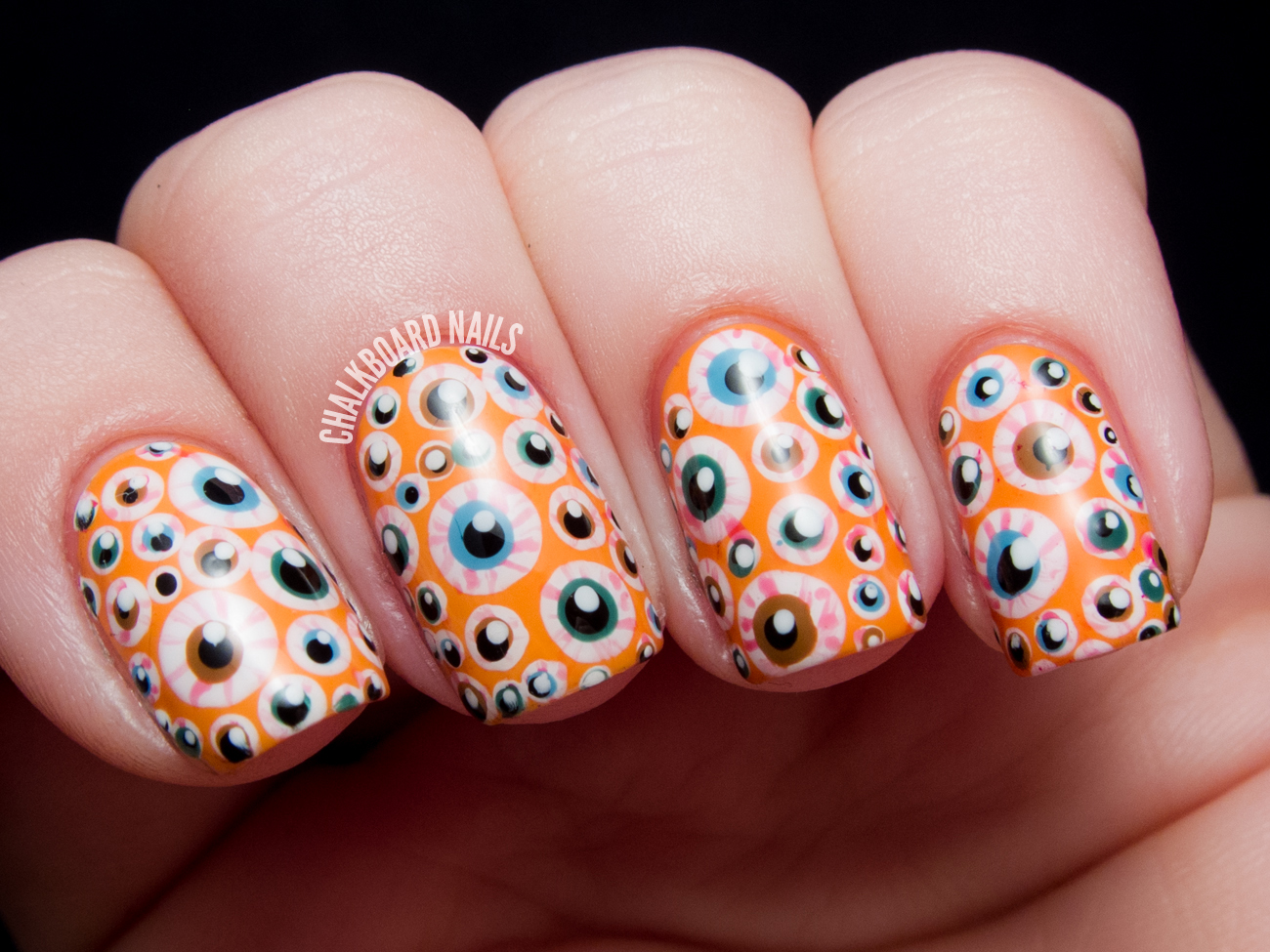 Over the Top Eyeball Nails - Halloween Nail Art ...