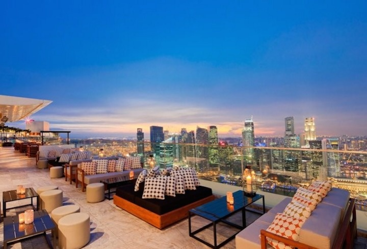 The World's 30 Best Rooftop Bars… Everyone Should Drink At #9 At Least Once. - The Ku Dé Ta has a boat-shaped rooftop in the casino resort Marina Bay Sands in Singapore.