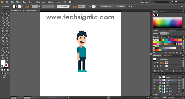Tampilan Adobe Illustrator