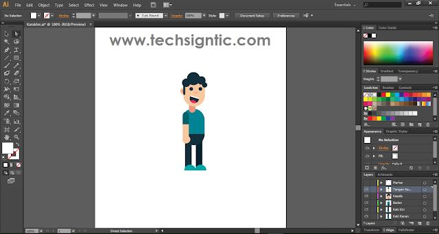 Tampilan Adobe Illustrator