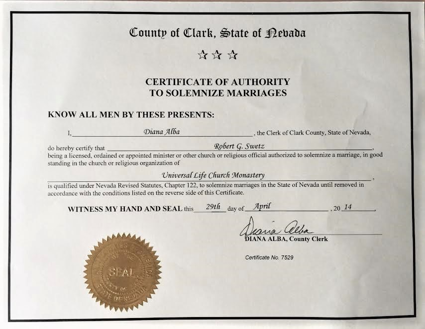 Las Vegas Marriage Certificate Free Professional Resume