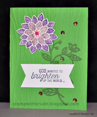 Flourashing Phrases, floral, greeting card, Stampin' Up!, Stamp with Trude