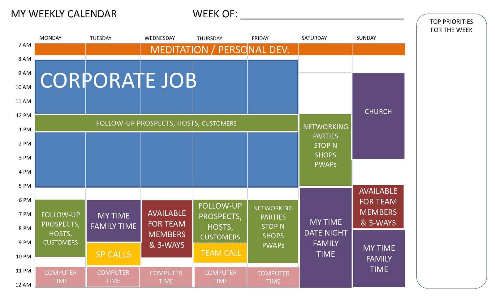 90 day to diamond program weekly planning calendar. Black Bedroom Furniture Sets. Home Design Ideas