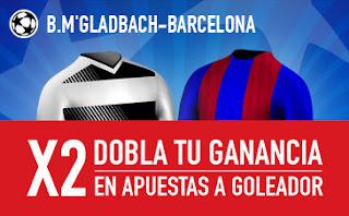 sportium Dobla tus ganancias 25 euros Monchengladbach vs Barcelona 28 septiembre