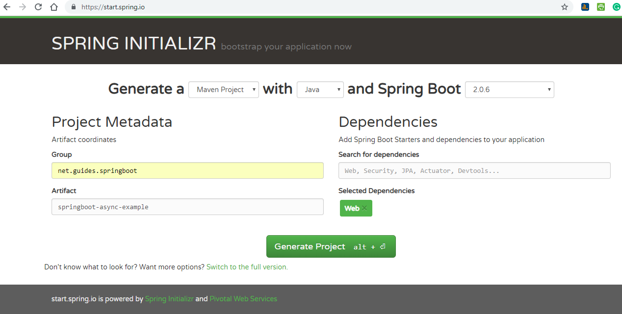 Spring Boot: Creating Asynchronous Methods Using @Async