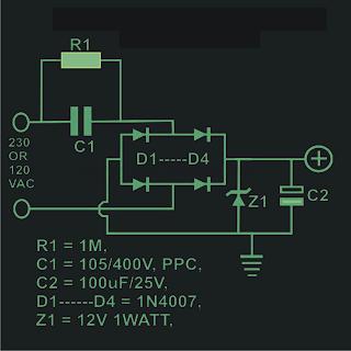 Transformerless Power Supply Calculation