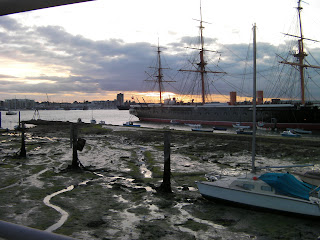 low tide in portsmouth harbour